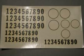 JV 0245 Stickervel cijfers